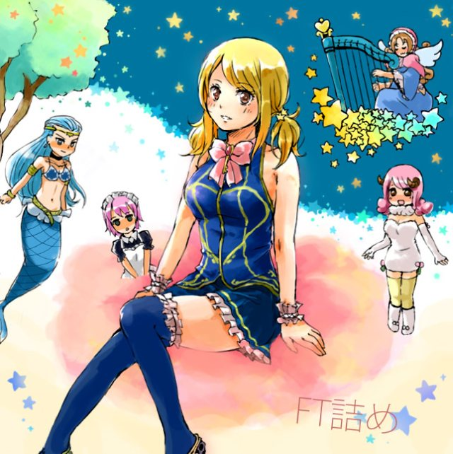fairy tail lucy heartfilia virgo aries  fairy tail аниме картинка